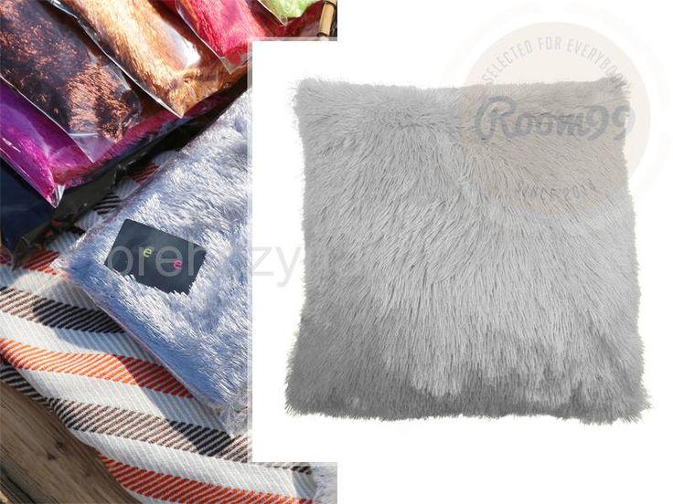 Chlupaté luxusní povlaky na polštář bílé barvy