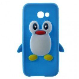 Samsung Galaxy A3 2017 sininen pingviini silikonikuori.