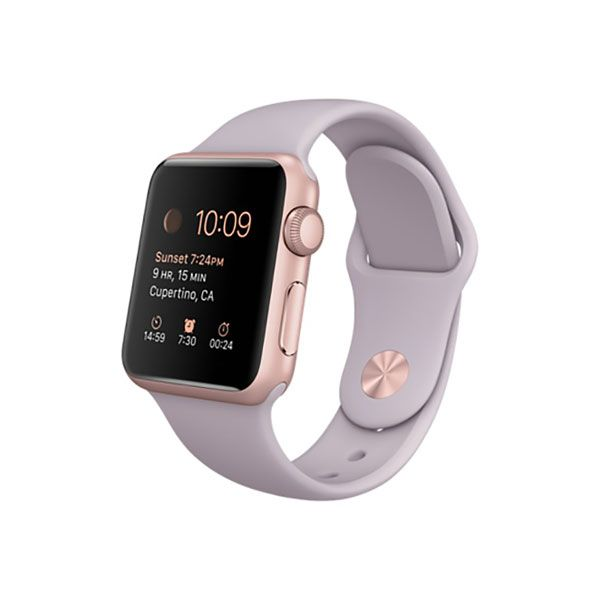 Refurbished Apple Watch Sport 38mm Rose Gold Aluminum Case with Lavender Sport Band (MLCH2LL/A) (A1553)
