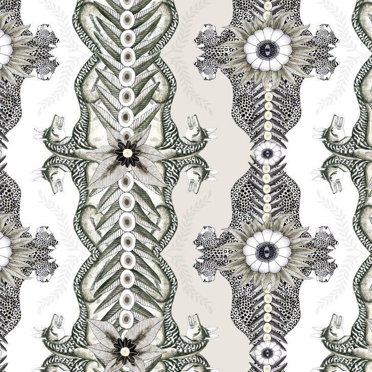 Bush Bandits Stone Fabric – Ardmore-Design