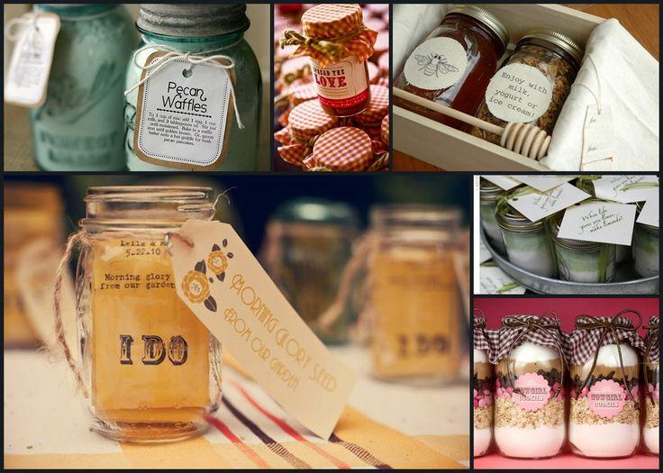Homemade Granola In Mason Jars Favor