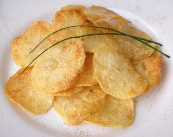 Recipe for the chips in the microwave for 10 minutes.