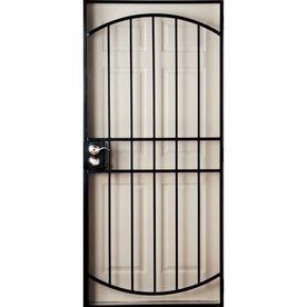 Gatehouse 36-in x 81-in Gibraltar Black Steel Security Door