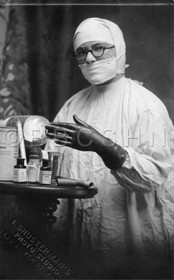 Surgical nurse, Mt. Sinai Hospital, Philadelphia, PA, c. 1920-1922. Image courtesy of the @nursinghistory.