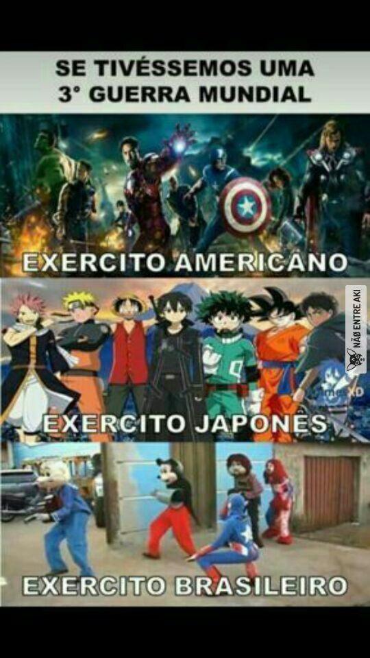 Mesmo com os vingadores os universo japonês ganha fácilmente