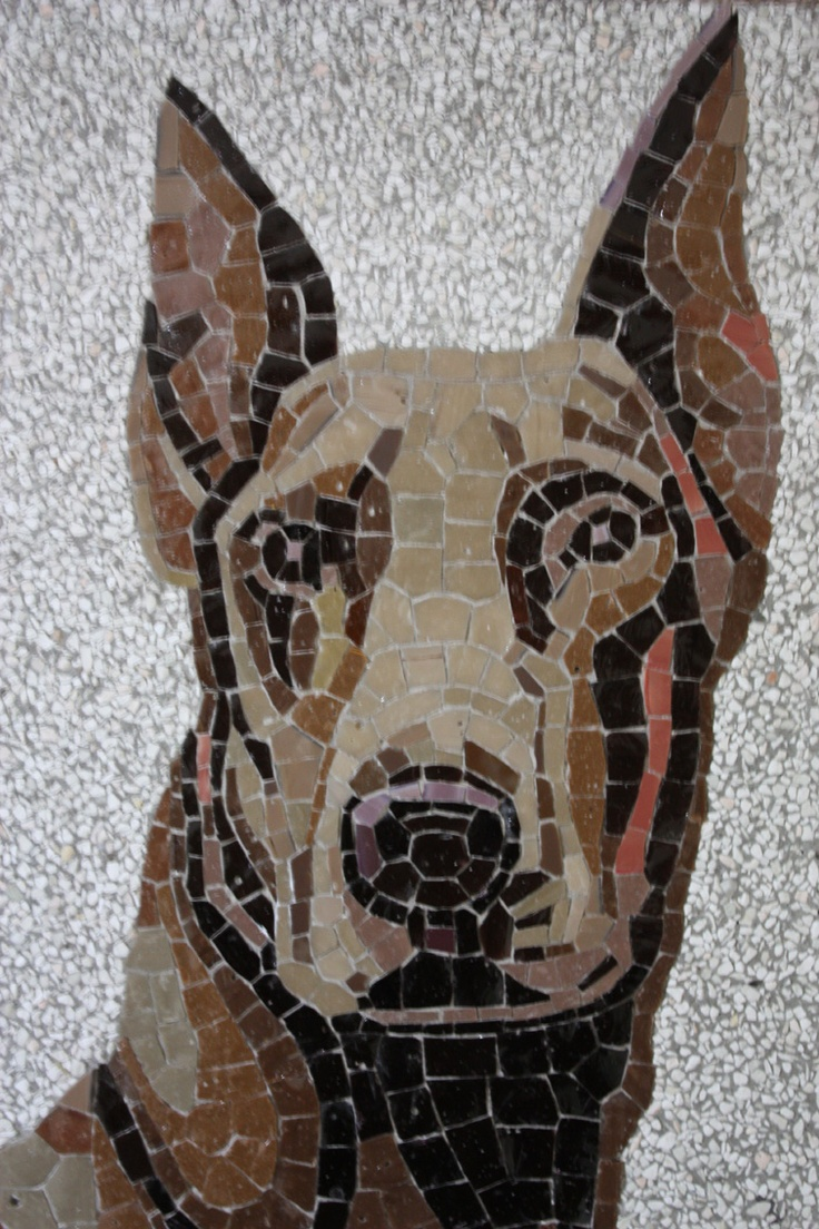 #Doberman reverse on paper mosaic / Fabian Scaunich Have to do/find this with a Great Dane!