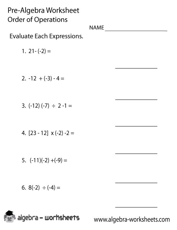 Printables Order Of Operations Algebra Worksheet 1000 ideas about algebra worksheets on pinterest gcse math order operations pre worksheet