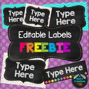 This freebie includes 3 different sizes of labels for things such as book boxes, tote trays, desk labels etc. There are 2 different styles for the big labels, 2 different styles for the small labels, and 1 style for the long labels. Please leave feedback :)