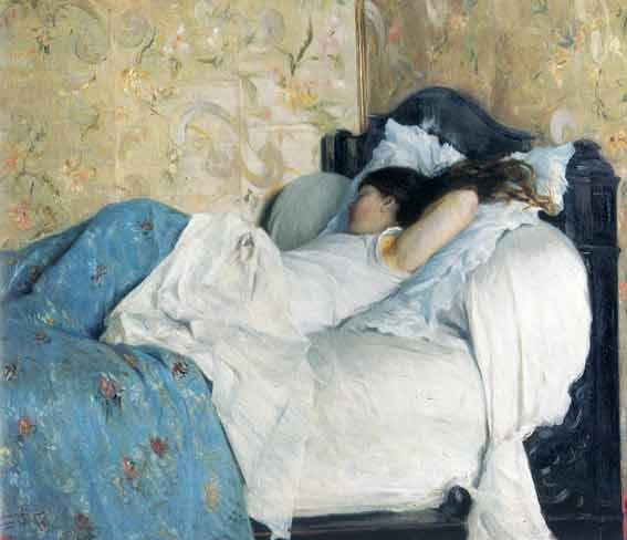 Federico Zandomeneghi - A letto. La dormiente.