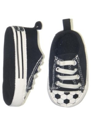 So cute!  Good shoe to wear to his big sister's soccer games! :)