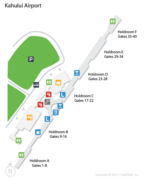(OGG) Kahului Airport Terminal Map