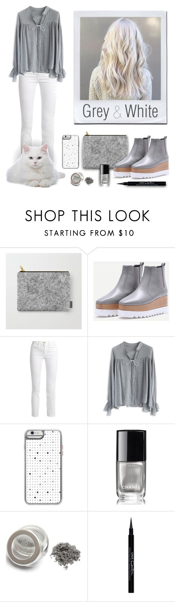 Light grey & White Women outfit by @savousepate on @polyvore
