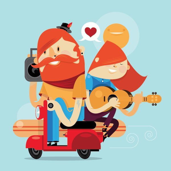 Scooter couple. #character