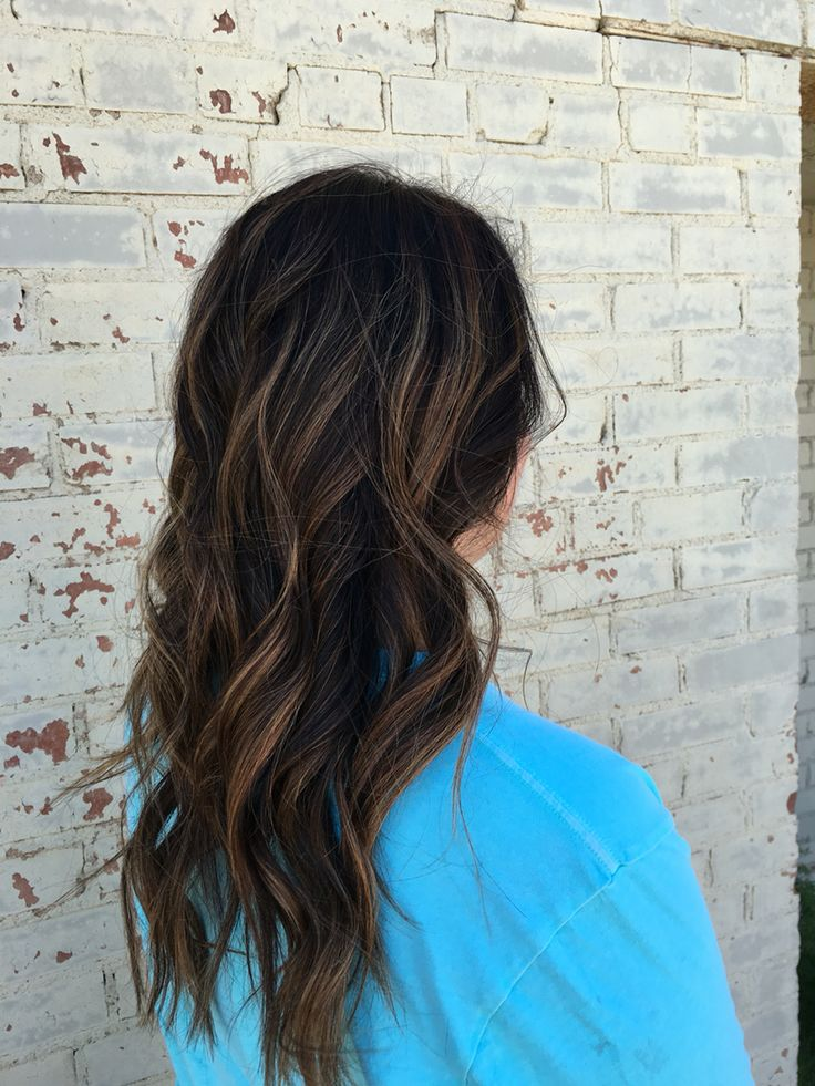 Balayage, dark hair, brown hair, brown balayage, long hair, hair, highlights