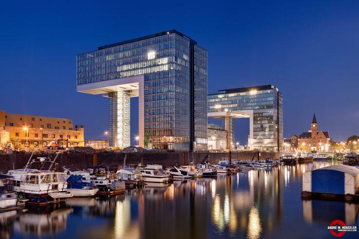 Köln und einer seiner Häfen. repinned by www.parkett-direkt.net