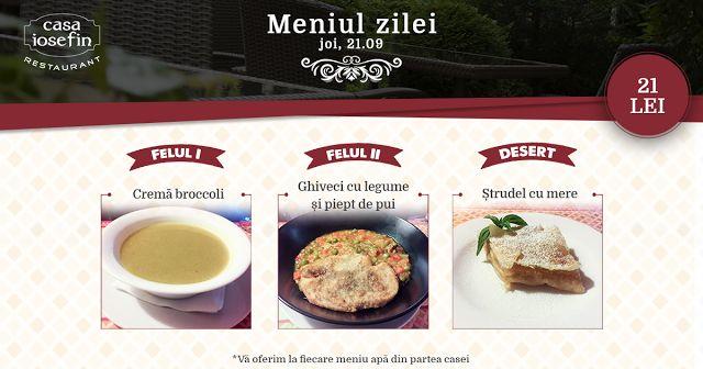Restaurant Casa Iosefin Timisoara: Meniu Zilei 25.09
