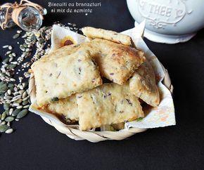 Reteta Biscuiti cu branzeturi si mix de seminte din categoria Aperitive. Cu specific romanesc.