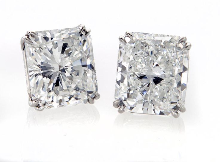 Lot: Pair important platinum and radiant cut (GIA), Lot Number: 0113, Starting Bid: $100,000, Auctioneer: Dallas Auction Gallery, Auction: The Fine Jewels Auction, Date: May 4th, 2017 IDT