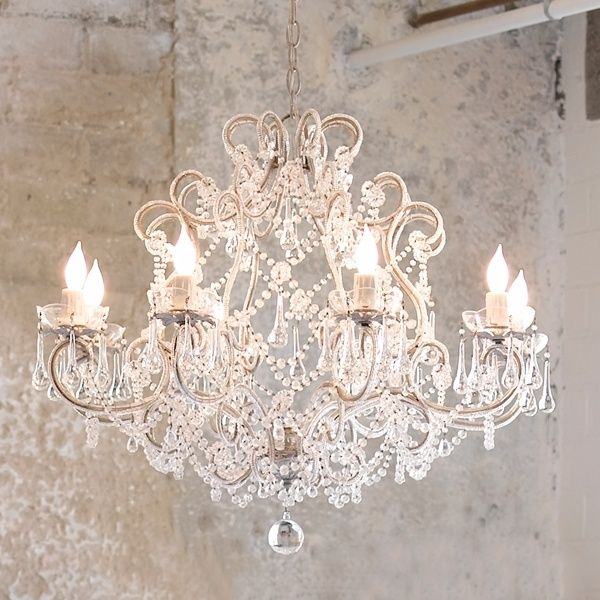 Chandeliers are used in elegant and sophisticated situations. They are in dining rooms over the table and sometimes in entrance halls.