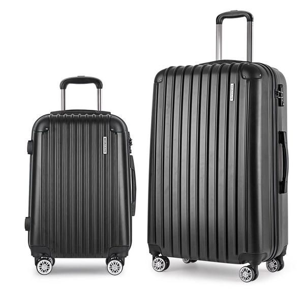 Set of 2 Hard Shell Travel Luggage with TSA Lock - Black – Click Online Sales