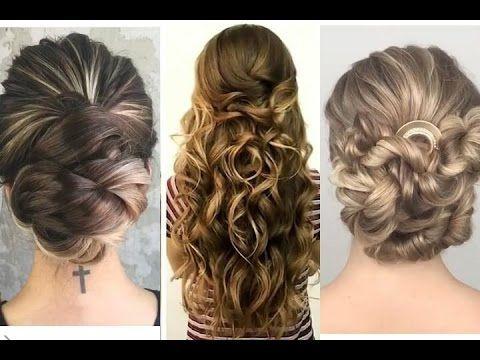 tres peinados de fiesta para ocasiones especiales dos recogidos y pelo rizado suelto