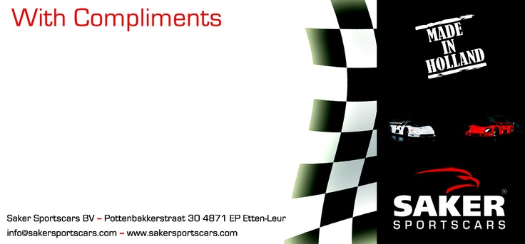 With Complements Card Saker Sportscars http://sakersportscars.com/?page_id=455=en