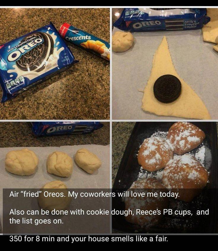 air fryer Ingredients Pillsbury crescent rolls oreos