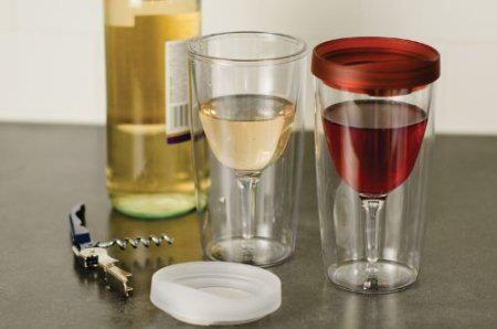 Great Valentine's Day Gift! ♥   http://www.lovedesigncreate.com/vino2go-2-pack-of-double-wall-clear-acrylic-tumbler-with-wine-red-lid/