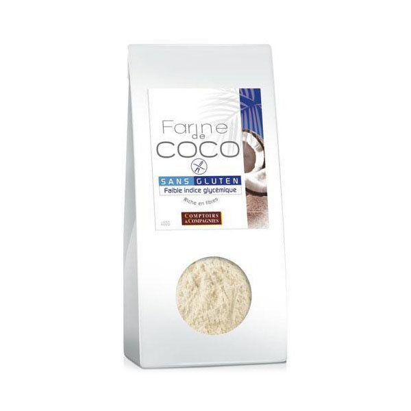 Comptoirs Et Compagnies Farine de coco bio 400 g du rayon Farines Bio leportailbio - Comptoirs et Compagnies - Leportailbio
