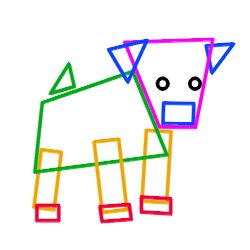 How to draw cartoon puppies step 2