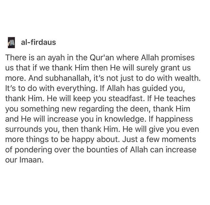 Alhamdulillah for everything.