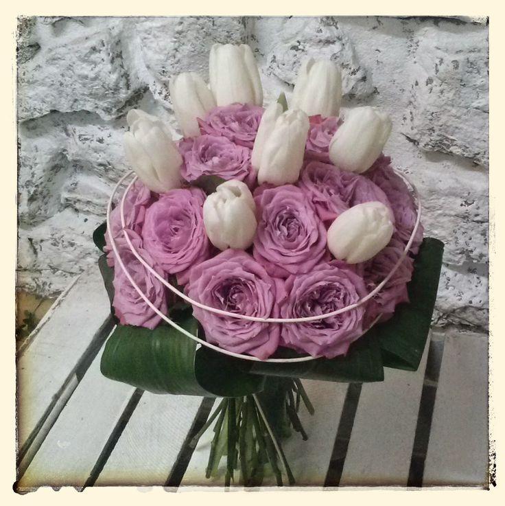 róża,tulipan,bukiet,