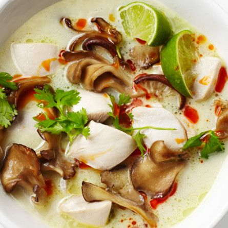 ✔️Tom Kha Gai (Chicken Coconut Soup) Recipe  delicious! I used lemongrass paste and about 1 teaspoon of crushed ginger!  And added bean noodles and stir fried tofu (not chicken)This silky, aromatic soup is a complete meal in a bowl.