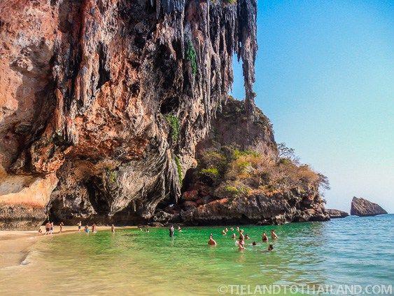 Cave area at Phra Nang Beach