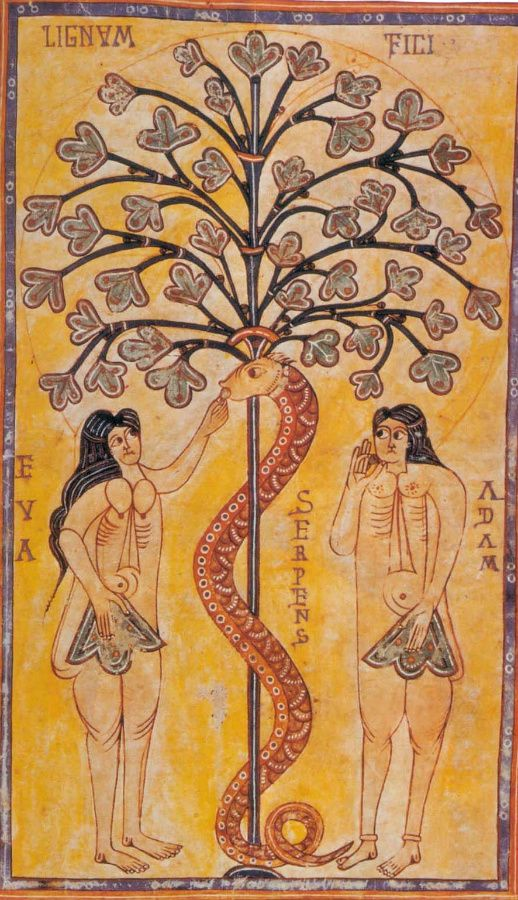 The Codex Vigilanus, Adam and Eve, c. 976