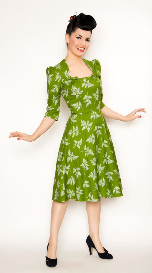 40s style dresses long sleeve