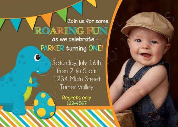 25+ best Dinosaur birthday invitations ideas on Pinterest ...