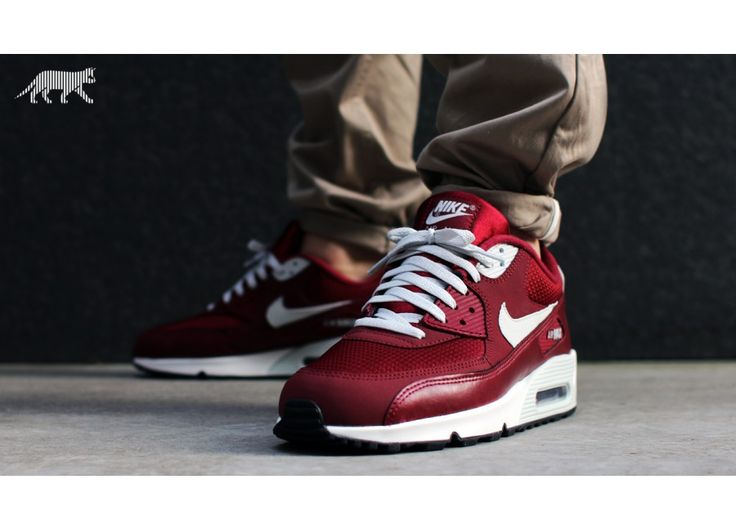 NIKE AIR MAX 90 ESSENTIAL (TEAM RED / LIGHT BASE GREY - SAIL) | Nike Air Max  ♥ | Pinterest | Air max 90, Air max and Nike air max