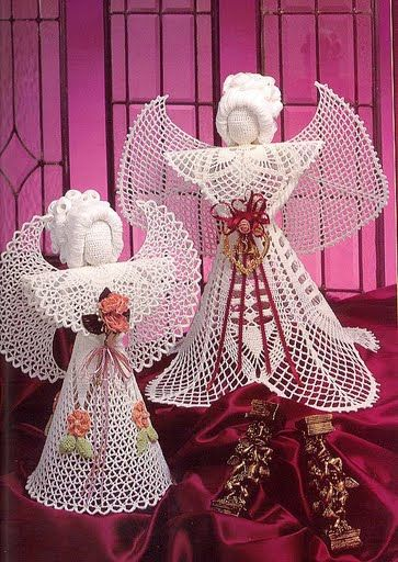 Lace crochet angels