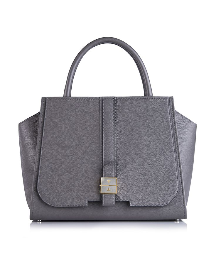 MELIA deer leather handbag in Misty Grey by TANCHEL