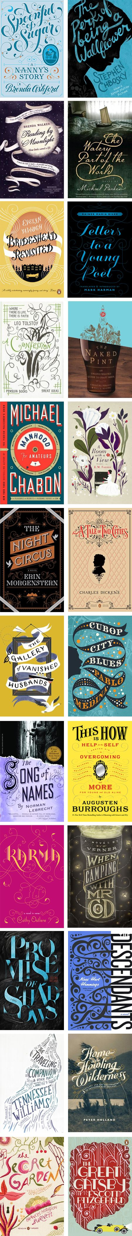Great book cover designs (typographic)