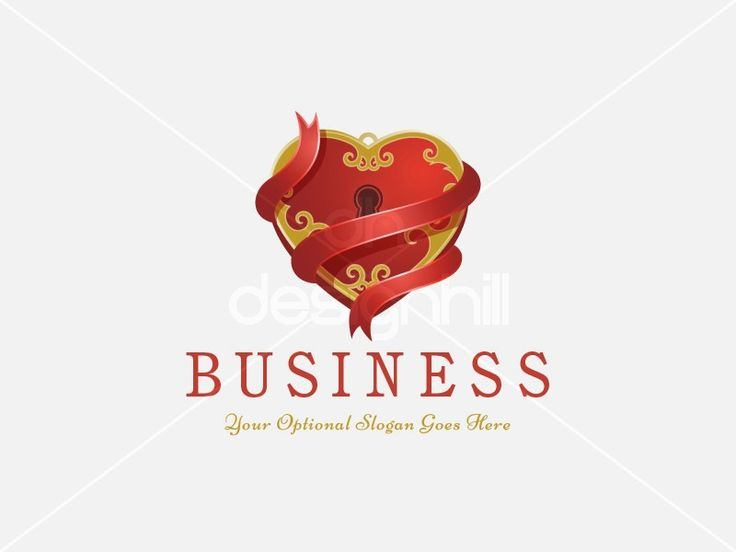 New logo design for sale on Design Hill - red, key, elegant, love, golden, heart, lock, together, ribbon, gold, decoration, dating, marriage, locked, keyhole, padlock, crimson, wrapped, forged, wedding, luxury, secure, precious, treasure, gem, jewelry, gift, bond, logo, design, template,