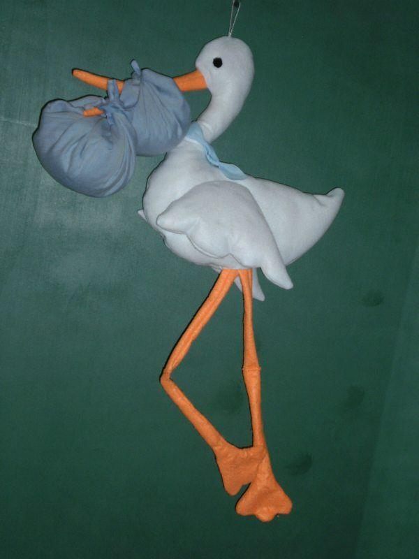 La cicogna di feltro. Tutorial