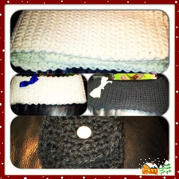 Crotchet scarf headbands and purse