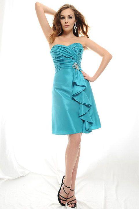 Gorgeous sleeveless A-line bridesmaid dress