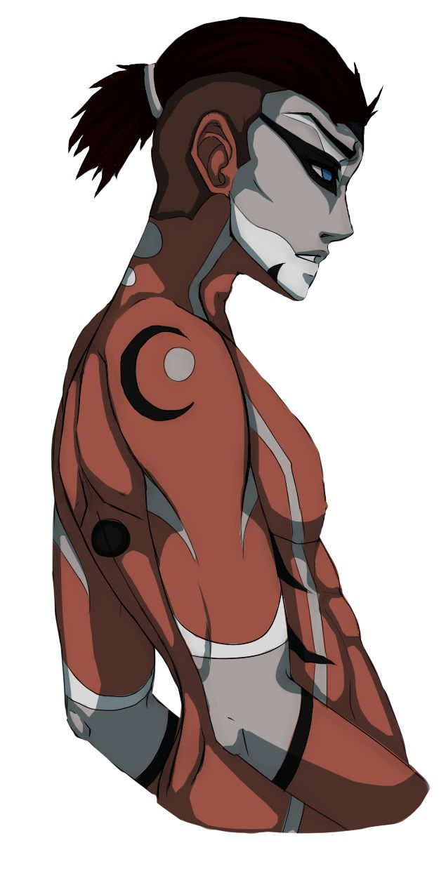 nadialii: Watching all the episodes of Avatar: The Last Airbender right now, and I just had to draw Sokka when I saw his war paint.