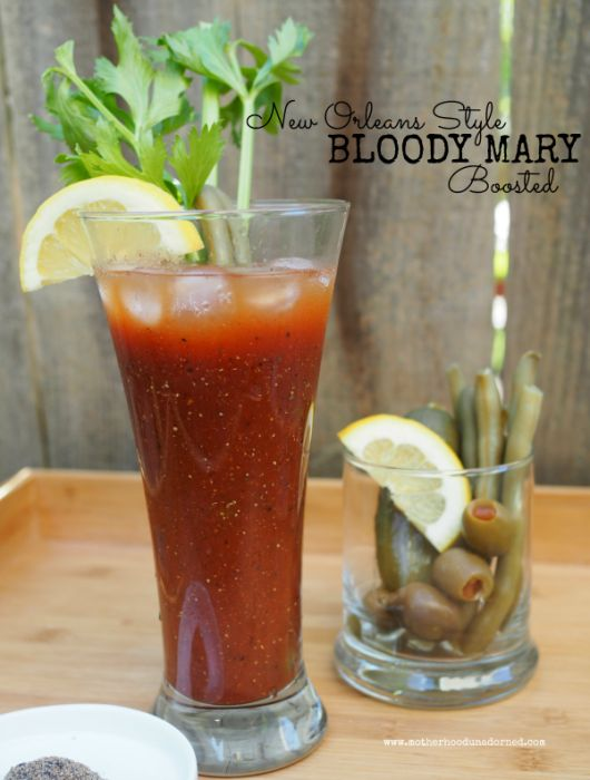 New Orleans Style Bloody Mary Boosted {Recipe} #V8EnergyBoost #ad