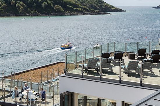 Welcome to Salcombe! What a view! At Salcombe Harbour Hotel, Devon, UK