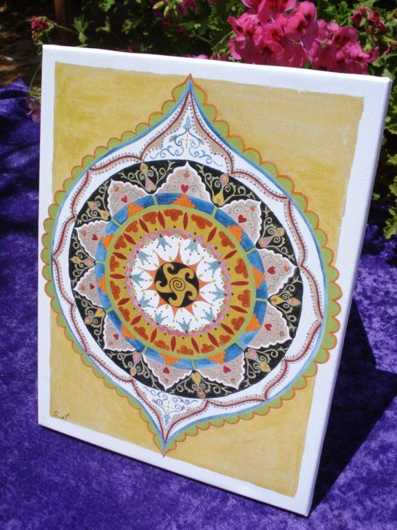 In This Mandala We Can See Multi Culture Influences Merged