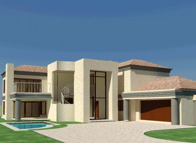 4 Bedroom House Plans South African Home Designs Nethouseplansnethouseplans House Plans South Africa Double Storey House Contemporary House Plans